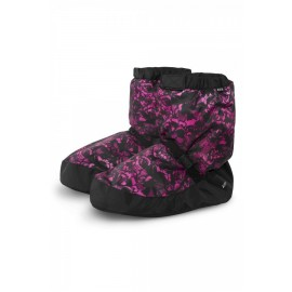 Buty ocieplające Bootie Boots IM009P Floral Pink